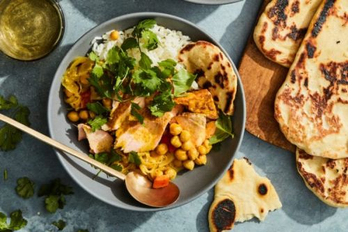 Curried Salmon Rice Bowl