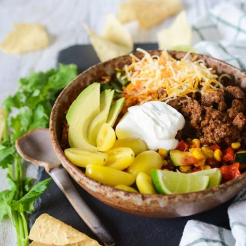 Ground Beef Taco Bowl