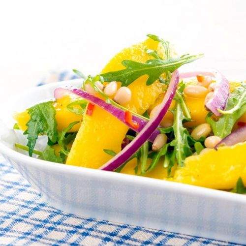 Spicy Mango Salad with Rocket
