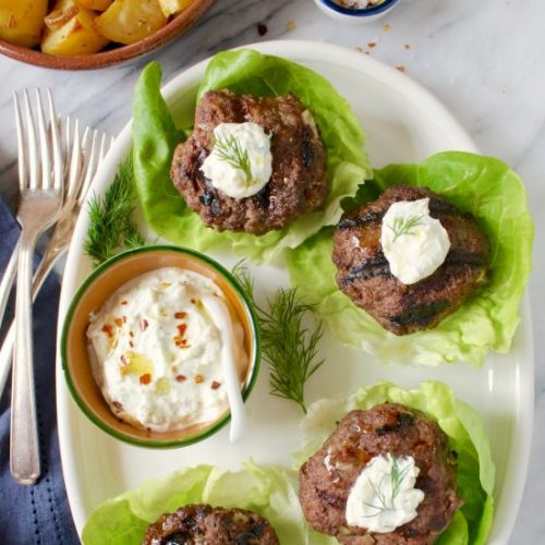 Lettuce-wrapped lamb sliders