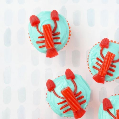 Candy lobster cupcakes