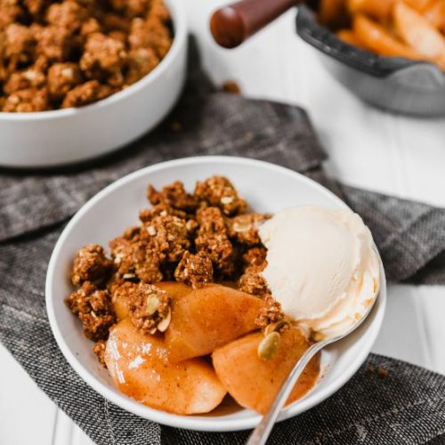 Healthy Deconstructed Apple Crisp