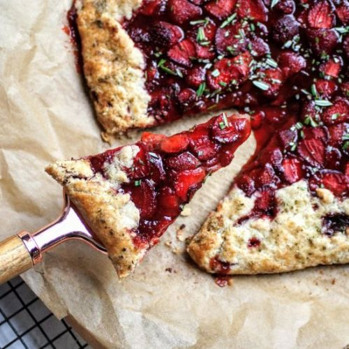 Strawberry Rosemary Galette