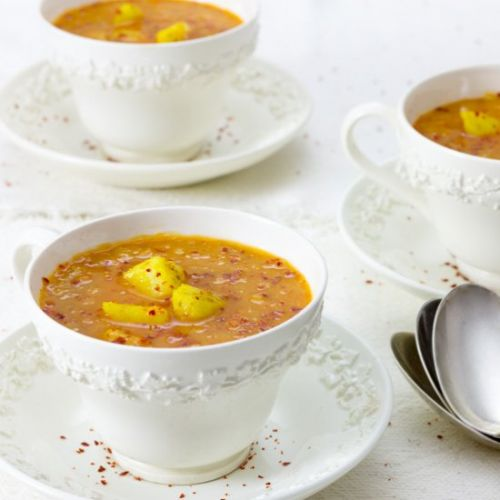 Red Lentil Carrot and Ginger Soup