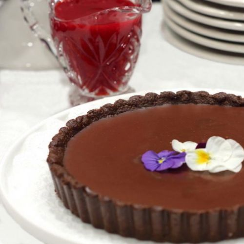 Decadent Vegan Chocolate Tart with