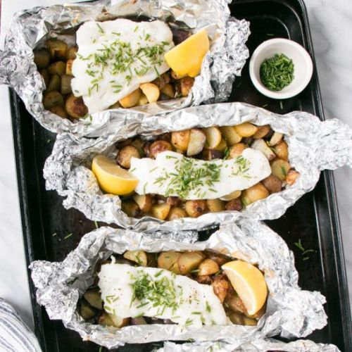 Cod, Chorizo and Foil Packets