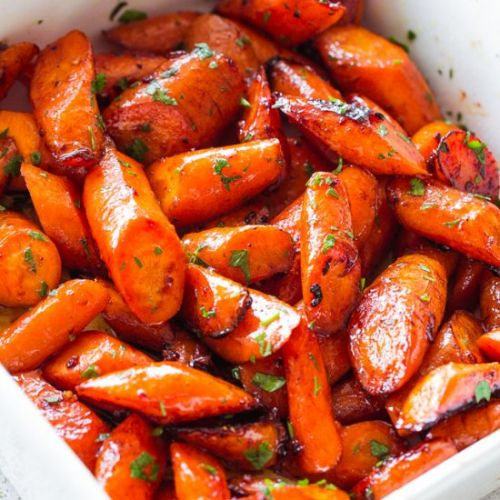 Honey Garlic Butter Roasted Carrots