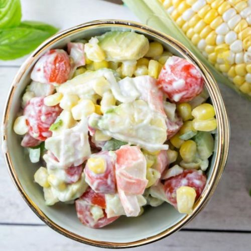 Corn Crab Tomato Salad