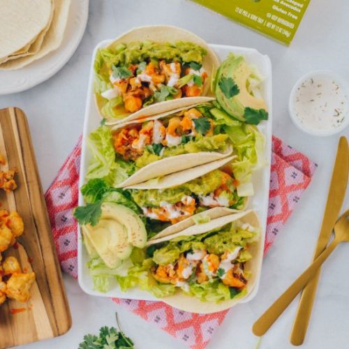 Simple Buffalo Cauliflower Tacos
