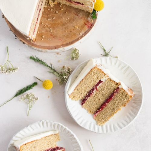 Earl Grey Cake with Raspberry