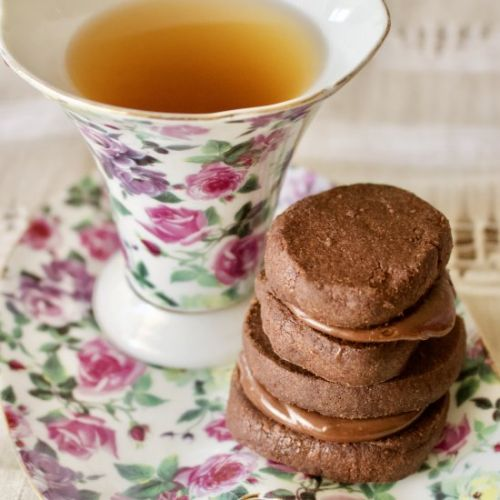 Chocolate cookies with Earl Grey