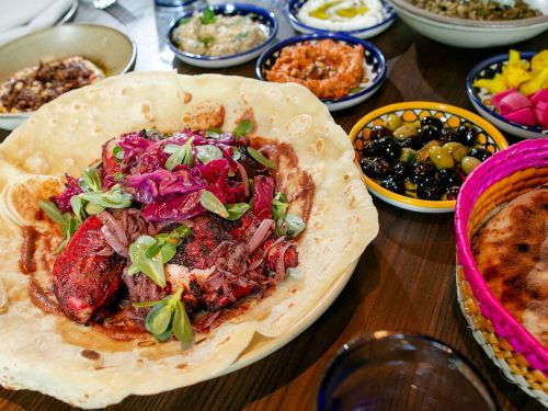 Watch: Sumac Chicken, Hummus, and Flatbread Complete a Syrian-Palestinian Feast