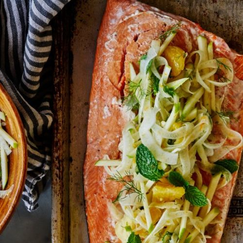 Citrus Salmon with Fennel Slaw