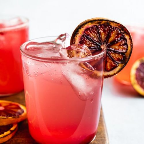 Burnt Blood Orange Gin Smash