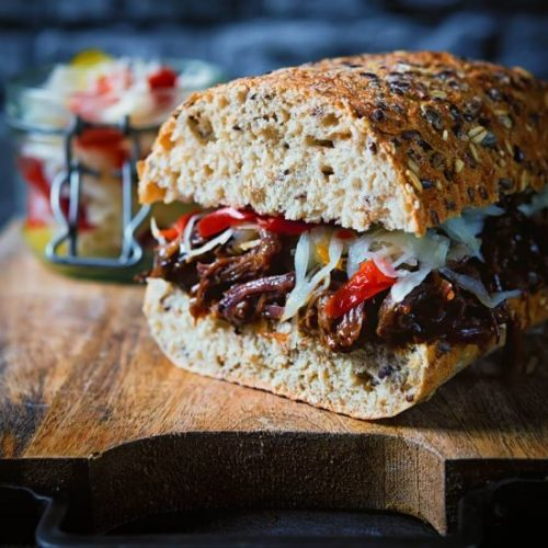 Instant Pot Pulled Beef Sandwich