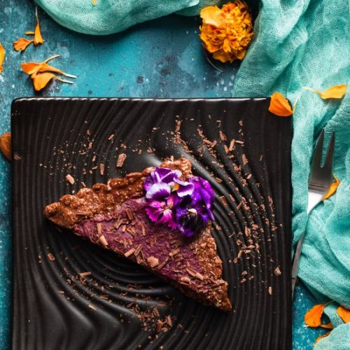 No-Bake Purple Sweet Potato Tart