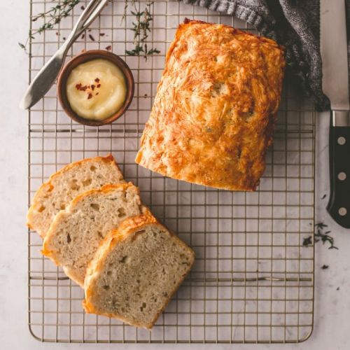 White Cheddar And Herb Beer Bread