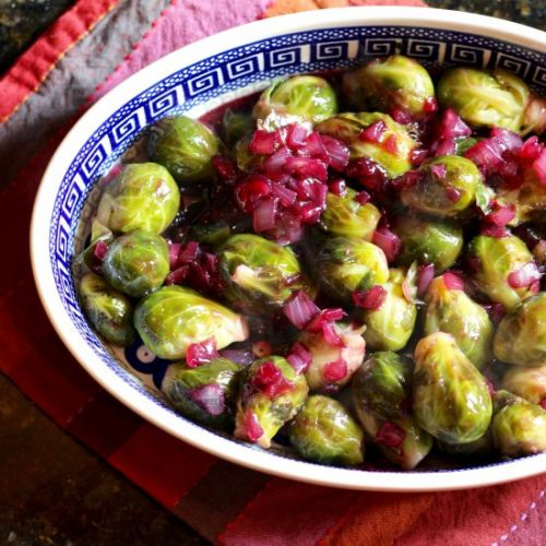 Brussels Sprouts with Grape Glaze