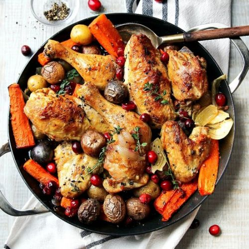 Skillet Cranberry Chicken & Veggies