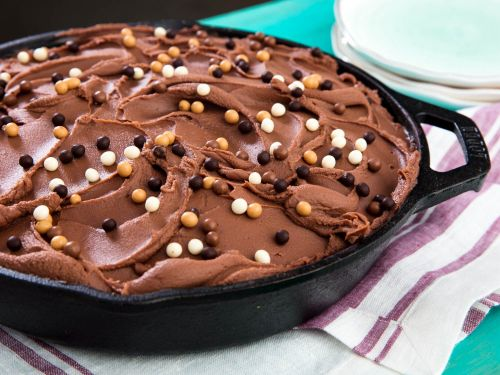 Chocolate Skillet Cake With Milk Chocolate Frosting