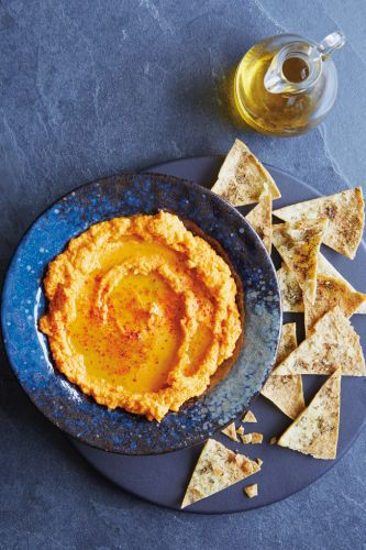 Slow-Cooker Heirloom Carrot Hummus