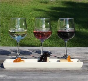 Oct 9 & 10: Wine Flights paired with Jam and Cheese Bites