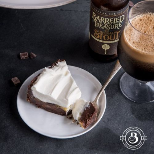 Stout Chocolate and Vanilla pie