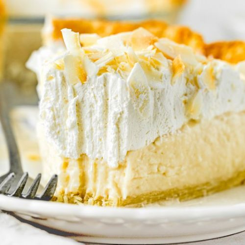 Eggless Coconut Cream Pie