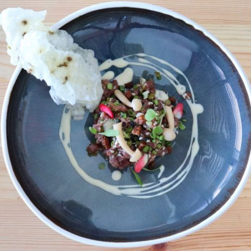 Duck Tartare with Ginger Soy