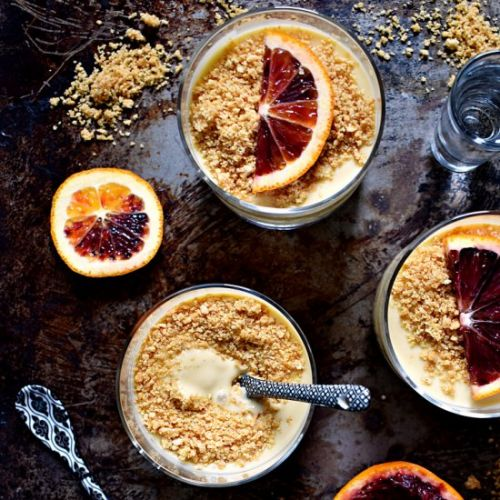 Blood Orange Tequila Pudding