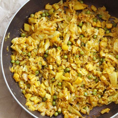 Cabbage Fennel Seeds Indian Curry