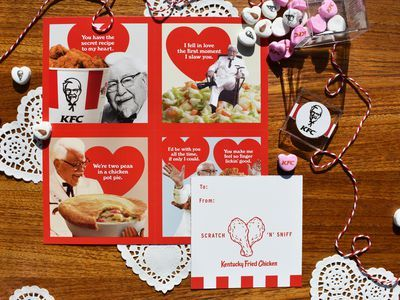 KFC's Scratch-and-Sniff Valentine's Day Cards Don't Smell Like Chicken at All