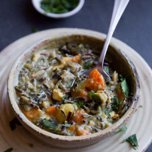 Creamy Curry Chicken Wild Rice Soup