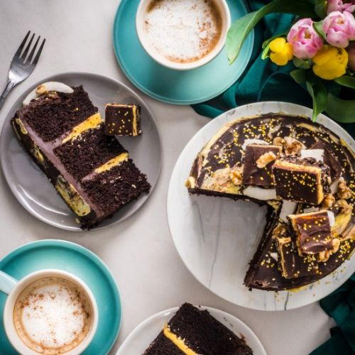 Nanaimo Bar Stout Cake