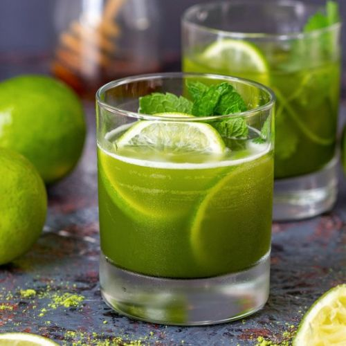 Matcha iced tea