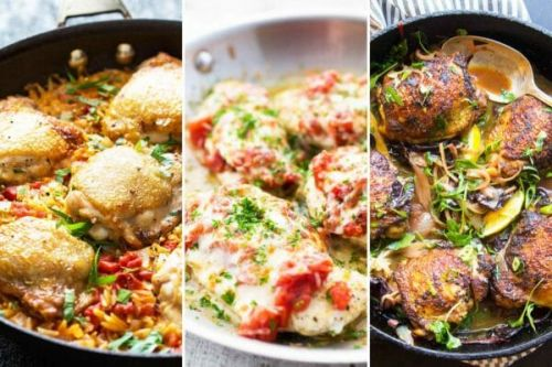 12 Easy Skillet Chicken Dinners
