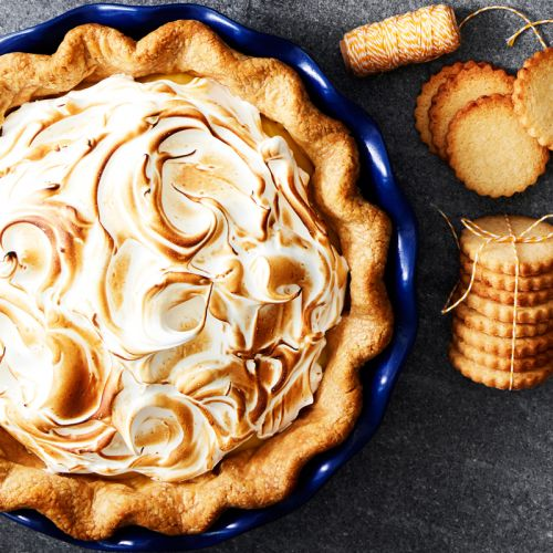 Lemon Curd Meringue Pie