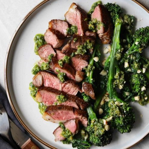 The juiciest lamb with salsa verde