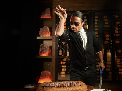 What It's Like to Eat at Salt Bae's NYC Restaurant, According to Luke Evans