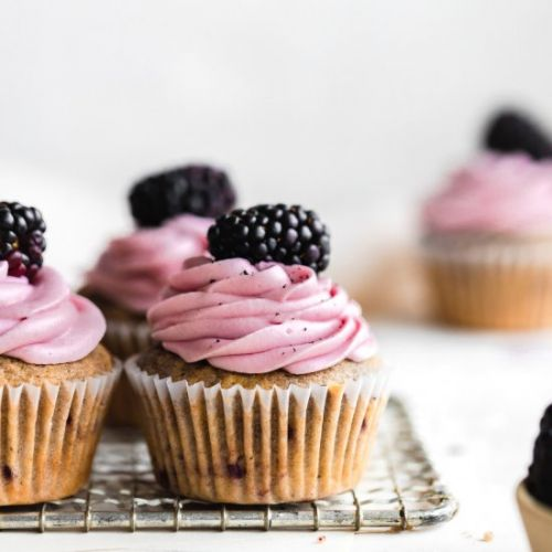 Blackberry Earl Grey Cupcakes