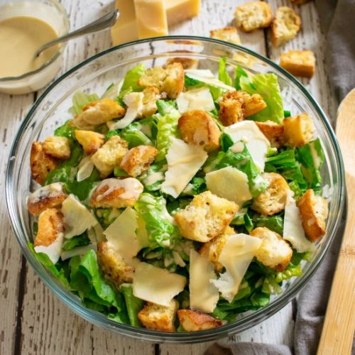Caesar Salad with Homemade Dressing