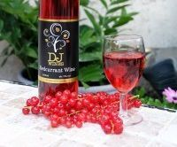 Homemade red currant wine