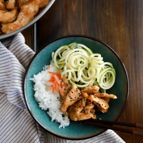 Weeknight Korean Chicken Rice Bowls