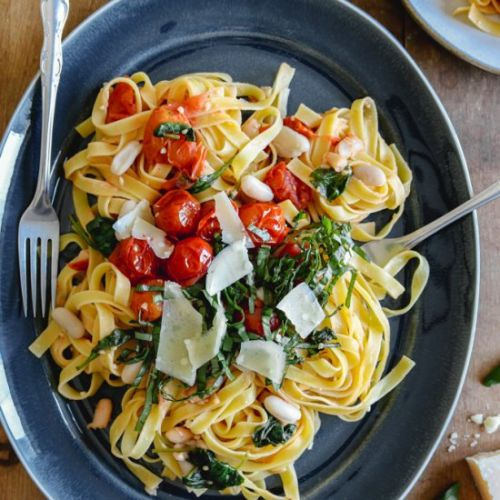 Tuscan Pasta with White Beans