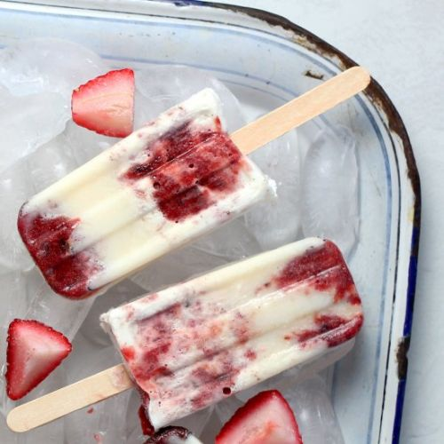 Strawberry Fool Popsicles