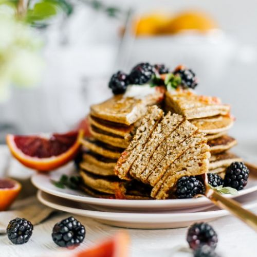 Lemon Chia Seed Whole Grain Pancake