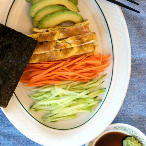 Nori Wraps - Eggs, Avocado, Veggies