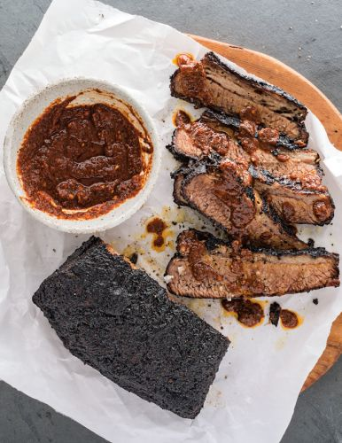 Brisket with Ancho Chocolate Barbecue Sauce