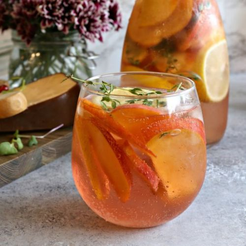 Sparkling Peach Rose' Cocktail
