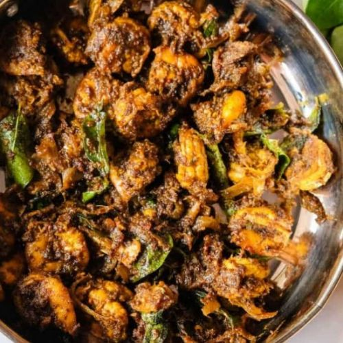 Curry Leaves Prawn Fry